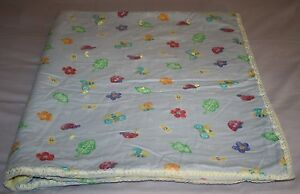 Butterfly-Bee-FLOWER-Handmade-Tied-Quilt-BABY-Girls-Blanket-Cotton-Ribbon-Edge