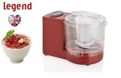 New Legend RED Mini Food Chopper Processor Blender Grinder Slicer 300ml 120W