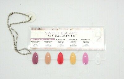 CND SHELLAC & VINYL SWEET ESCAPE PAINTED Color Chart Nail Palette -5 CLR SAMPLER (Painted Palette)