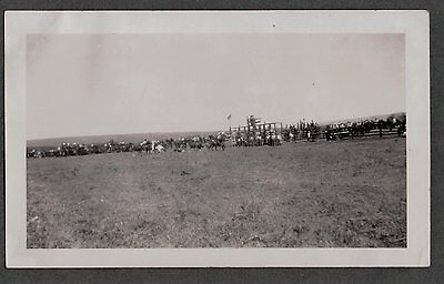 Ccc Civilian Conservative Corps 1935 Babb Montana Rodeo Steer Roping Old Photo