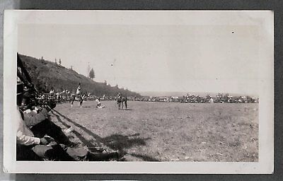 Ccc Civilian Conservative Corps 1935 Babb Montana Rodeo Calf Roping Old Photo