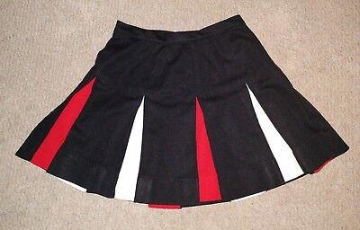 Vintage Dehen Pleated Cheer Real Cheerleading Uniform Skirt Black White Red