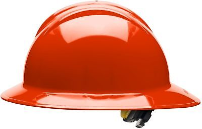 Bullard Full Brim Hard Hat with 6 Point Ratchet Suspension, Hi-Vis Orange
