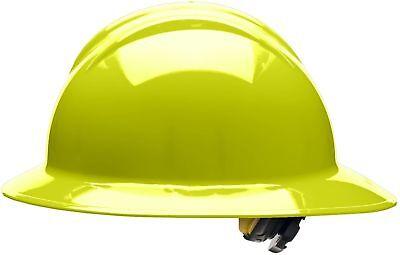 Bullard Full Brim Hard Hat with 6 Point Ratchet Suspension, Hi-Vis Yellow