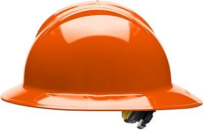 Bullard Full Brim Hard Hat With 6 Point Ratchet Suspension Orange