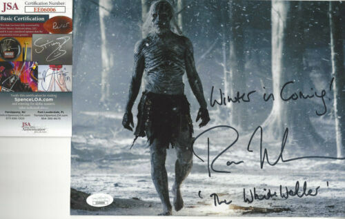 Game of Thrones White Walker Autographed 8x10 Winter is Coming added JSA