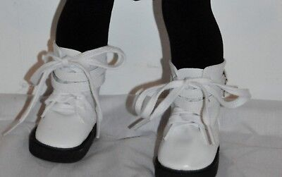 AMERICAN STYLE DOLL SHOES  FOR 18 INCH  GIRL DOLLS DRESS LOT WHITE BUCKLE