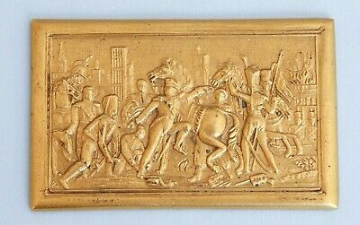 Antique Metal Plaque French Emperor Napoleon Bonaparte