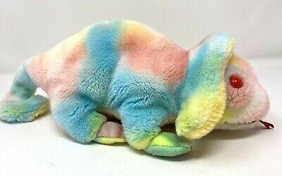 Ty Beanie Buddies - Rainbow the Chameleon - 1999 Tie Dye Pastel 14