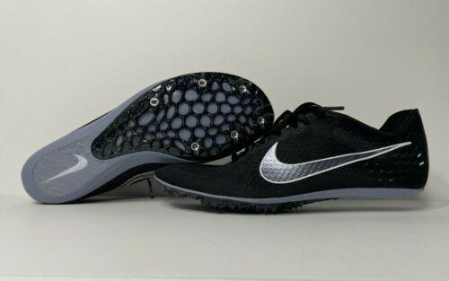 NEW Nike Zoom Victory 3 Spikes Black/White/Indigo Fog Track & Field With Box