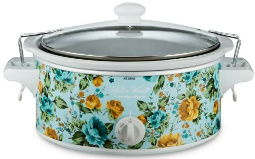 Pioneer Woman Hamilton Beach Rose Shadow 6 Qt Portable Slow Cooker NEW IN BOX