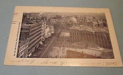 1901 Bird's Eye View of Brooklyn New York RPPC Real Photo Postcard City Postmark
