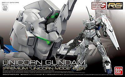 Gundam 1/144 RG #25-SP Unicorn Gundam RX-0 Premium Unicorn Mode Box Model Kit
