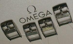 Lot of 4 Omega NOS BUCKLE Originale Fibbia STEEL 14mm - Italia - Lot of 4 Omega NOS BUCKLE Originale Fibbia STEEL 14mm - Italia