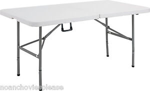 5-FOLDING-FOLDS-IN-HALF-RETAIL-DISPLAY-TRESTLE-BANQUETING-TABLE-300KG-LOAD-NEW