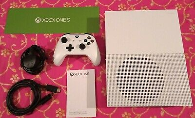 Microsoft Xbox One S 1TB White Console Boxed Mint Condition Only Two Months Old
