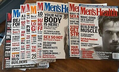 Lot of 10 MEN'S HEALTH Magazines 2001 Entire Print Run Abs Muscle Diet Style for sale  Shipping to India