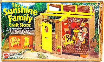UNUSED Vintage Mattel 1975 Sunshine Family CRAFT STORE Playset & DOLLS #9266 FUN