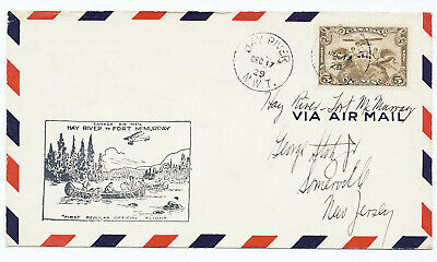 Canada 1929 First Flight Cover Hay River NWT to Fort McMurray Cachet Can-519q