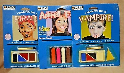 U PICK Makeup Kit SET PIRATE Animal Faces VAMPIRE Play ACTING Dress UP Halloween