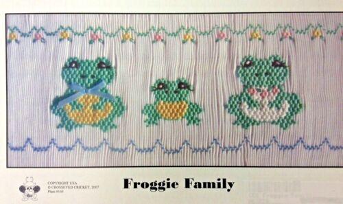 CROSSEYED CRICKET SMOCKING PLATE #169 FROGGIE FAMILY