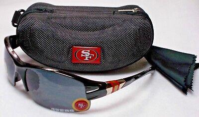 Read Listing! San Francisco 49ers BULLSEYE 3D LOGO on Blade Sunglasses.3 PC SET!