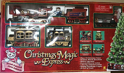 Christmas Magic Express Train Set 1st Edition Lights Up Plays 19 Musical Tunes