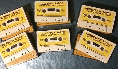 HAPPY TRAUM FOLK Guitar For Beginners six cassette-tape set 1977 HOMESPUN TAPES