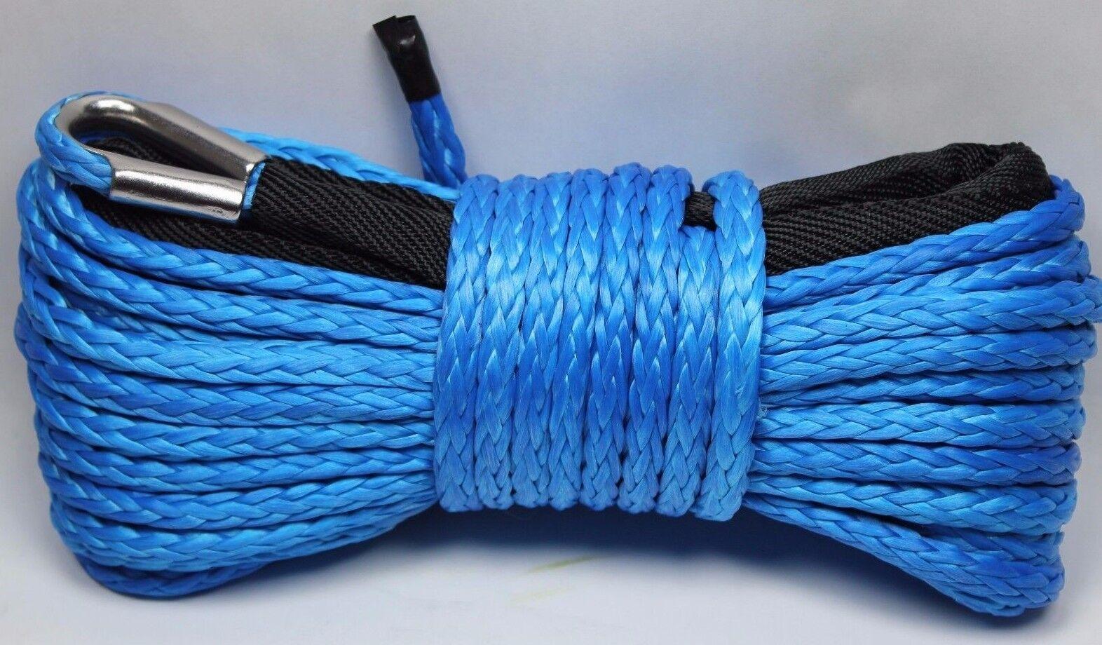 "1/4"" x 50' Synthetic Winch Rope Line Cable 8200 LB Capacity ATV UTV W/Sheath"