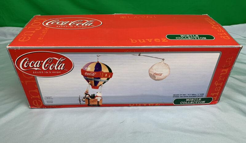 Rare Coca Cola Hot Air Balloon With Polar Bear, Penguin And Reindeer Mobile