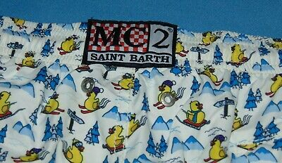 NWOT MC2 SAINT BARTH SKIING SLEDDING DUCKY SWIM TRUNKS MEN'S 2XL