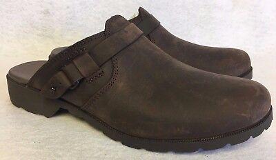 TEVA DELAVINA MULE DARK BROWN LEATHER WOMEN'S Waterproof CLOGS 1012436 Slip - Dark Brown Mule
