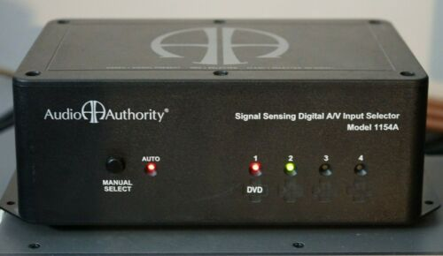 Audio Authority 1154A Autoswitch Composite Component Digital A/V 4 Input Switch