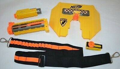 Nerf 5 Pc Lot of N-Strike Gun Accessories Parts Shield Laser Scope Barrel Strap