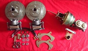 1957-1964 galaxie ford disc brake conversion new drilled slotted rotors