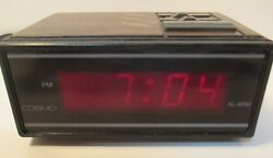 Retro Vintage COSMO Time LED digital Alarm Clock E529B Rare Miniature Clock *EUC