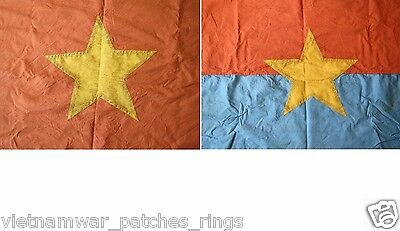 2 flags ,VC NATIONAL LIBERATION FRONT  , VIETCONG ,  COMMUNIST NORTH Vietnam