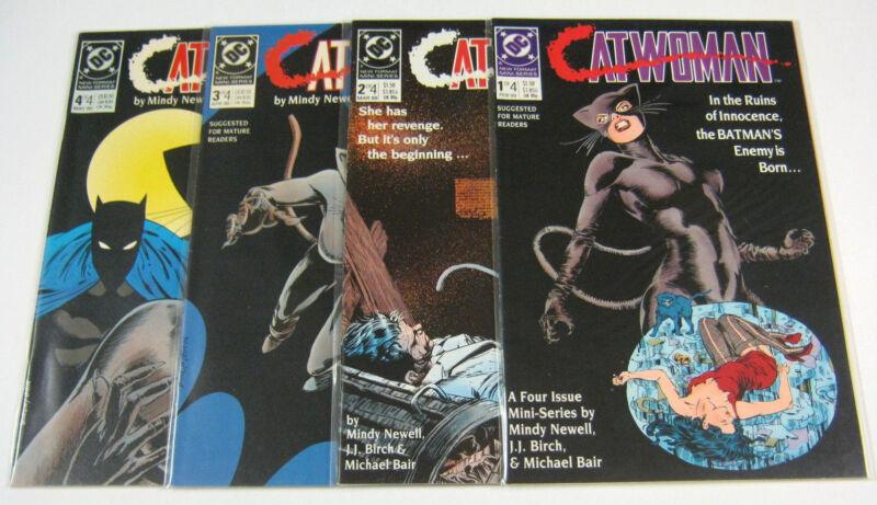 Catwoman #1,2,3,4 Complete Full Set 1-4 High Grades NM/NM+ BATMAN DC COMICS 1989