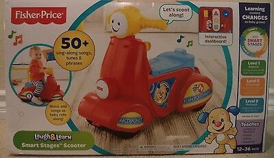 FISHER PRICE LAUGH AND LEARN SMART STAGES SCOOTER CGX01 *NEW*