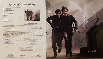 Jennifer Lawrence   Josh Hutcherson 11X14 Jsa Loa Hunger Games Hand Signed Psa