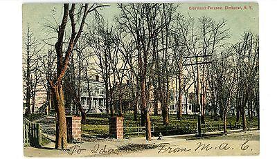 Elmhurst Queens LI NY - CLERMONT TERRACE HOUSES - Postcard - Elmhurst Queens