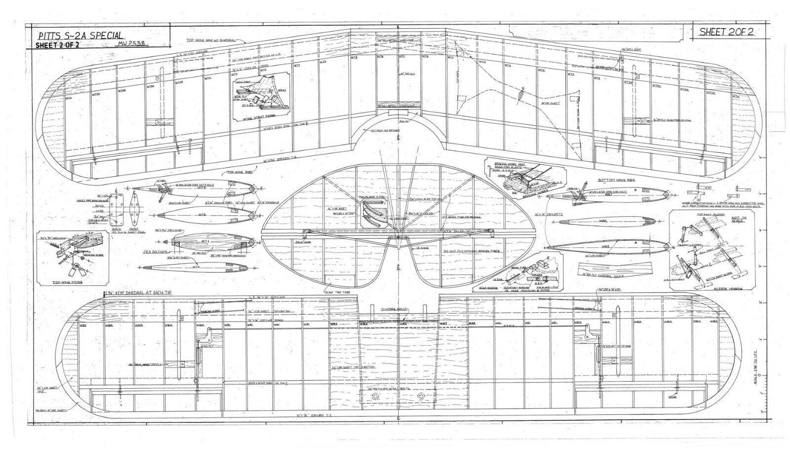 Bauplan Marabu Modellbau Modellbauplan