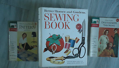Sewing Books Better Home Garden Spiral 1974 & SInger Sewing Library Pattern Cut