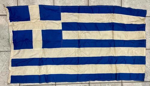 Vintage Greece Greek Cotton Flag 75x137cm, Very Old!
