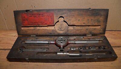 Vintage Big Craftsman Tap Die Set Blacksmith Metal Worker Machinist Tool Lot