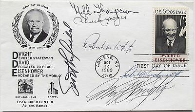 X15 Pilots  6  Autographs Cover White  Thompson  Knight  Crossfield  Rushworth