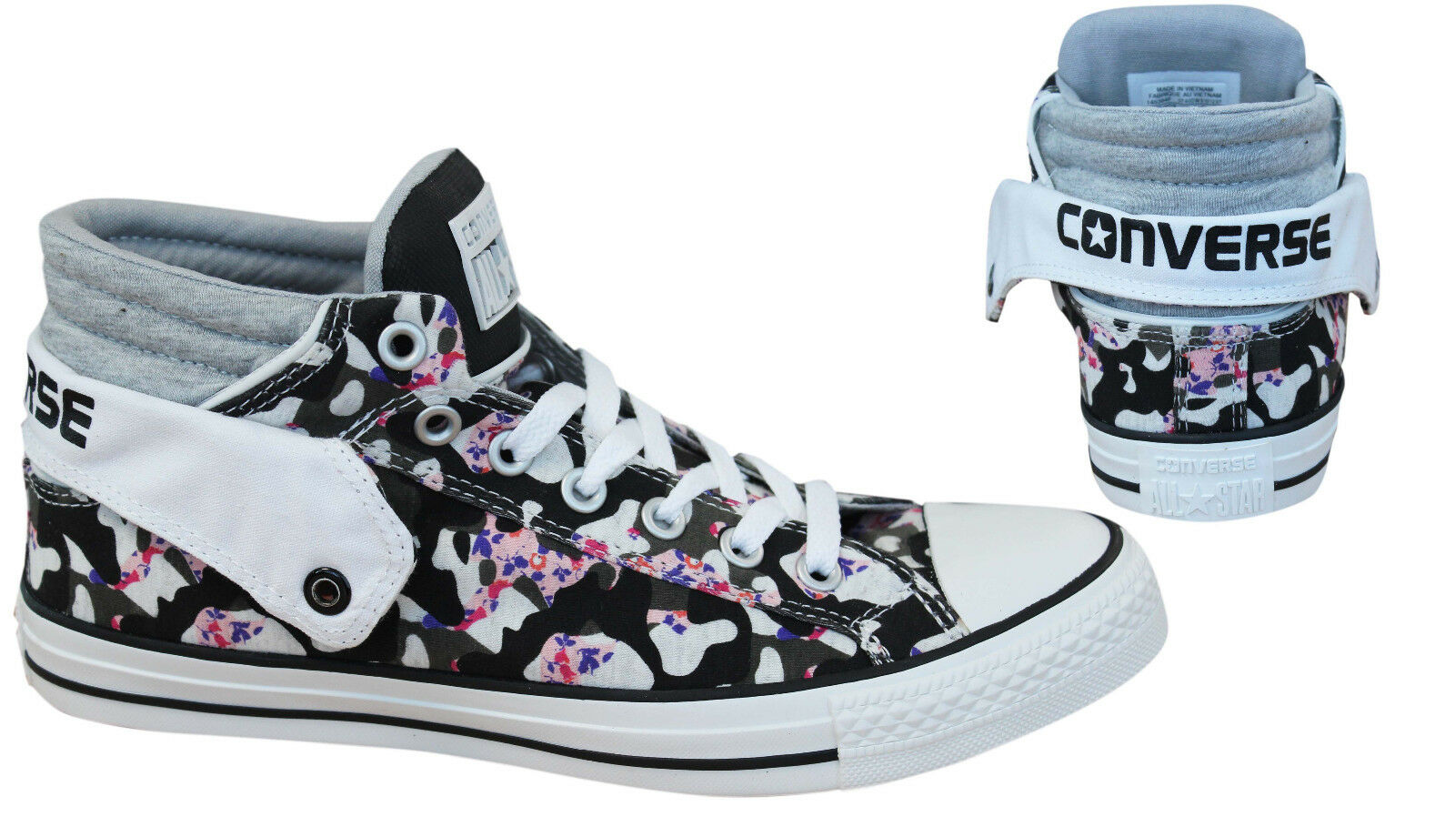 121cb660c15f Converse Chuck Taylor All Stars PC Layer Mid Mens Trainers Canvas ...