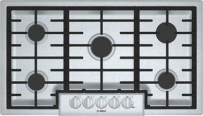 Bosch 800 Series 36'' Gas Cooktop 5 Sealed Burners Cast-Iron Grates NGM8656UC