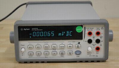 Agilent Keysight 34401a Digital Multimeter 6 Digit Very Late My4700 Sn Good
