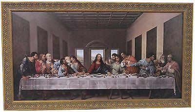 Leonardo DA Vinci * Last Supper Giclee Canvas Replica Extra Large Custom Framed